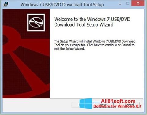 스크린 샷 Windows 7 USB DVD Download Tool Windows 8.1