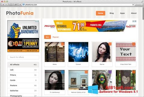 스크린 샷 PhotoFunia Windows 8.1
