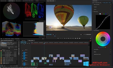 스크린 샷 Adobe Premiere Pro Windows 8.1