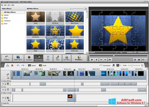 스크린 샷 AVS Video Editor Windows 8.1