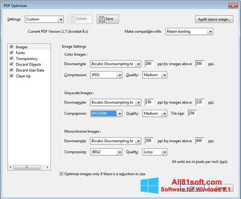 스크린 샷 Adobe Acrobat Pro DC Windows 8.1