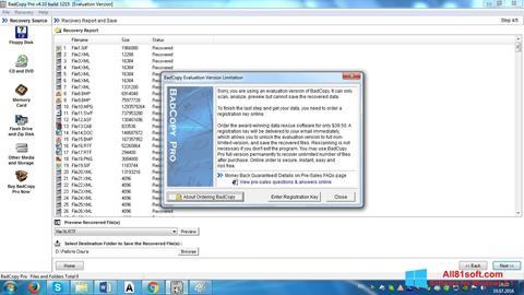 스크린 샷 BadCopy Pro Windows 8.1