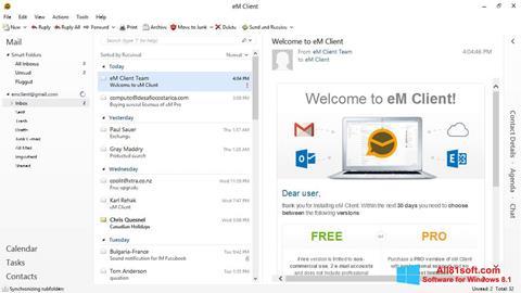 스크린 샷 eM Client Windows 8.1