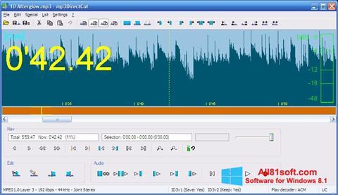 스크린 샷 mp3DirectCut Windows 8.1