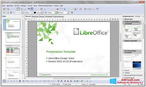 스크린 샷 LibreOffice Windows 8.1
