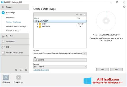 스크린 샷 DAEMON Tools Lite Windows 8.1
