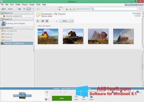 스크린 샷 Picasa Windows 8.1
