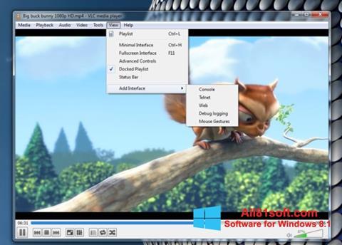 스크린 샷 VLC Media Player Windows 8.1