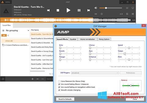 스크린 샷 AIMP Windows 8.1