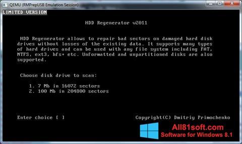 스크린 샷 HDD Regenerator Windows 8.1
