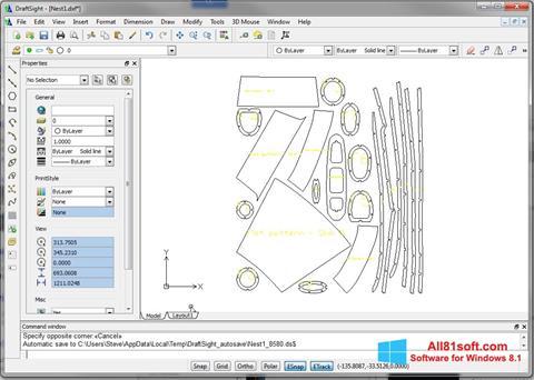 스크린 샷 DraftSight Windows 8.1