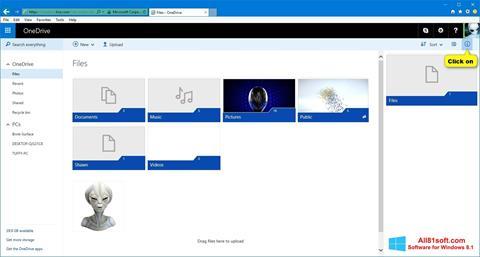 스크린 샷 OneDrive Windows 8.1