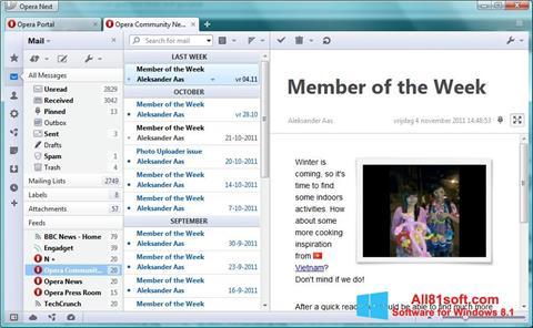 스크린 샷 Opera Mail Windows 8.1
