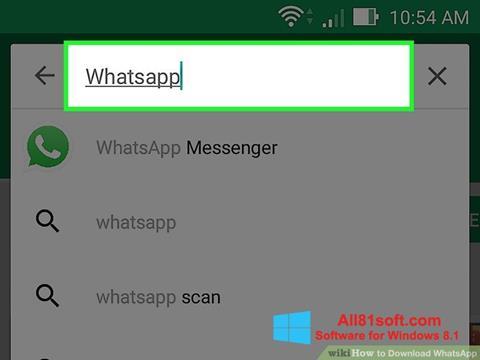 스크린 샷 WhatsApp Windows 8.1