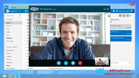 스크린 샷 Skype Windows 8.1